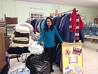 Tammy Mitchell, pictured at the 2014 winter coat and blanket collection and distribution event. (Courtesy photo)