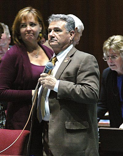Rep. Sonny Borrelli wants to let some students and faculty carry guns on college and university campuses.  (Capitol Media Services photo by Howard Fischer)