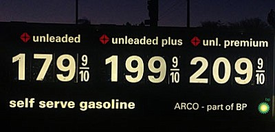 Gasoline prices in the Phoenix area have now dipped under $1.80 per gallon. (Photo courtesy of Jordan Engler)