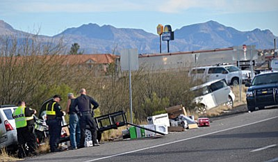 Camp Verde Marshal's Office investigates a multiple vehicle crash Wednesday afternoon on SR 260 near the off-ramp of I-17 in Camp Verde.
