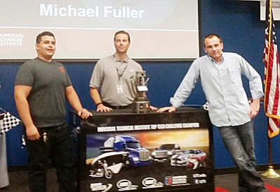 Mingus Union High School welding students Luis Maria and Michael Fuller claimed top honors at the Universal Technical Institute's Top Tech Challenge.
