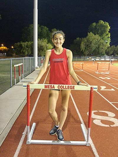 Allyson poses for a photo after a meet earlier this year at MCC. (Courtesy Photo)