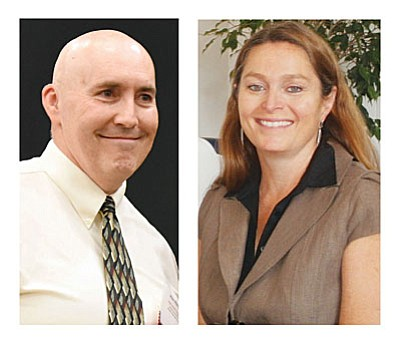 Mingus teacher Mike Westcott and current MUHS Principal Jennifer Chilton are among the four finalists to become the next Mingus District Superintendent.