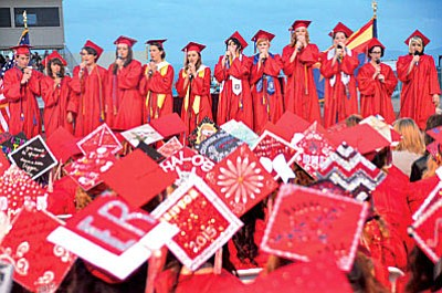 Graduation begins at 7 p.m. Friday on the football field at Mingus Union High School. Graduates are to meet in the school's gym at 6 p.m. to line up for the ceremony. Both Mingus parking lots are available, but they are expected to fill up by 6 p.m. Overflow parking is available in the Mingus lot across Camino Real from the east lot, at Fry's and at the Faith Lutheran Church just east of the school.  (VVN file photo)