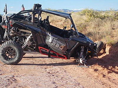The initial investigation indicates the ATV driver was travelling at an excessive speed as he drove across an uneven portion of the dirt road making it difficult to control the vehicle. It appeared the vehicle left the roadway at this point, entered a shallow ditch and when the driver attempted to re-enter the roadway, the vehicle rolled several times before coming to rest.(Photo courtesy of YCSO)