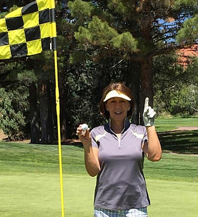 "The most exciting part of the two days, however, was the ""Hole in One"" made by Lori Zaun on the 16th hole."