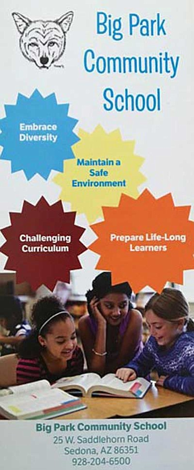 New brochure for Big Park Community School, courtesy of Front Burner Media