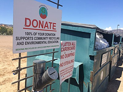 Chip in to help keep recycling programs available in Camp Verde. (VVN/Bill Helm)
