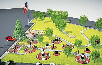 Artist's rendering of Verde Valley Military Service Park.