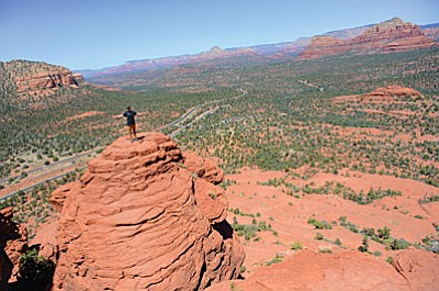 The Sedona Red Rock Trail Fund has also been successful in receiving a $10,000 grant from the City of Sedona this month and is currently applying for 2016 Yavapai County funds to be used for stabilization and improvement of the Cathedral Rock area trails (an effort unanimously supported by the Big Park Regional Coordinating Council).  (VVN photo)