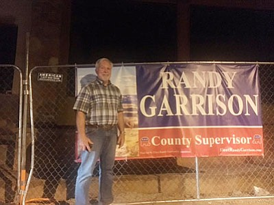 Randy Garrison was busy Tuesday night removing his campaign signs throughout the Verde Valley, and pleasantly surprised with election results that showed him to be an 803-vote winner over Diane Joens in the District 3 county supervisor race (Courtesy photo)