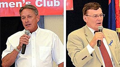 Chip Davis, left, and David Stringer