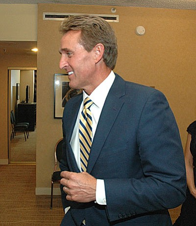Sen. Jeff Flake (Capitol Media Services file photo by Howard Fischer)