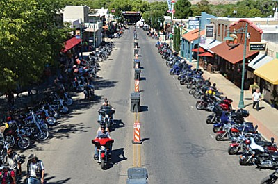 Cottonwood will welcome the motorcycle rally, presented by the Law Tigers, Arizona's Motorcycle Lawyers, and close down the street for bike-only parking for the weekend party. (VVN file photo)
