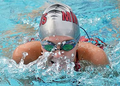 Rylie Burke was first in the 50m freestyle.