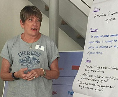 """Verde Valley Leadership class member Jill Clark:  VVL is an amazing program and is so much more than I could have imagined.  I am so glad to be a part of this class and I am very excited about the year ahead."""""""
