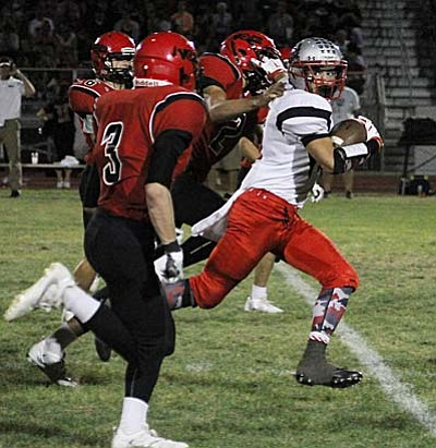 Mingus hosts Mohave (0-4, 0-2) in another Grand Canyon game next Friday. The T-birds lost a barn burner to Coconino (2-2, 1-0) in Flagstaff, 54-48. (Photo by J.C. Amberlyn/ Kingman Daily Miner)