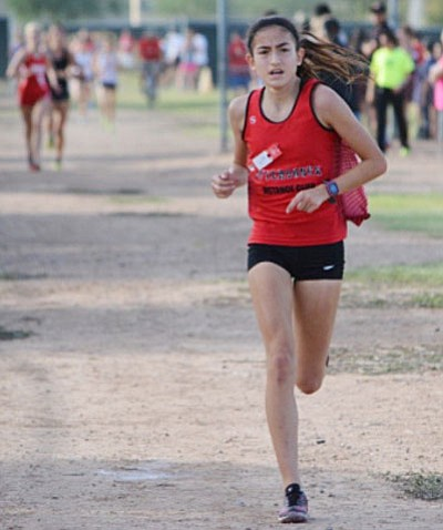 USTAF Aftershock Distance Club runner Allyson Arellano finished 15th among 47 runners in the Dave Murray Invite Sept. 16 at the Randolph Municipal Golf Course in Tucson.