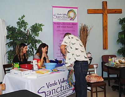 A display can be seen at the Old Town Mission for the second annual Verde Valley Project Connect – where individuals experiencing homelessness can connect to the resources needed to access safe housing. (VVN/Jennifer Kucich)