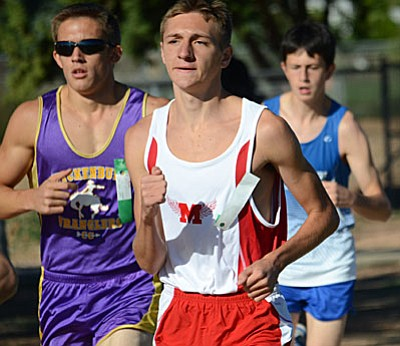 Mingus senior Ryan Alexander has been the most steady performer for the Marauders this season. Friday, he turned in a 17:53 performance for 5,000 meters in the Desert Twilight meet. (Photo by J.T. Keith)