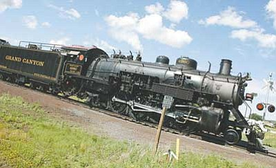 File photo/WGCN<br> Grand Canyon Railway's 1923 Baldwin steam locomotive No. 4960 will hit the rails this weekend as part of National Train Day events in Williams.