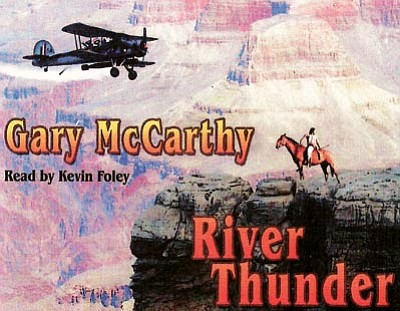 The cover of the 'River Thunder' audio book.