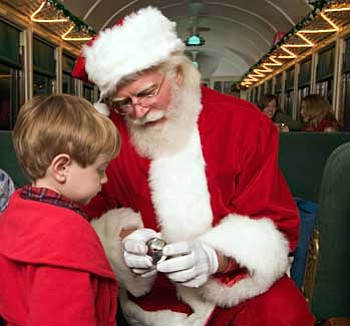 Photo courtesy Grand Canyon Railway<br>  Reservations are currently being accepted for this year's trip to North Pole.
