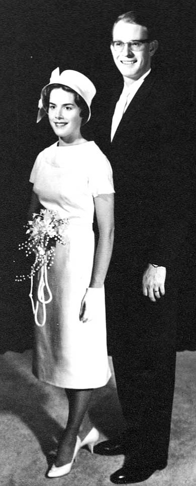 Dr. James and Jody Wurgler pose for a wedding photo 50 years ago.