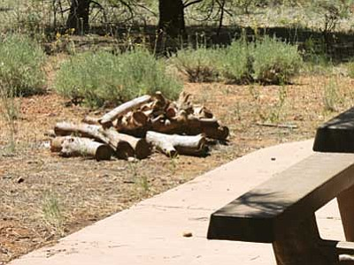Patrick Whitehurst/WGCN<br> Campfires are now permitted on the Kaibab Forest.