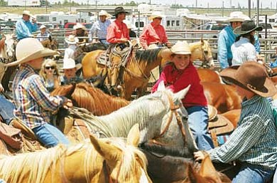 Photo/Dennis Shirley<br>  Working ranch families are gathering in Williams this weekend to celebrate the Cowpunchers Reunion Rodeo at the Williams Rodeo Grounds.