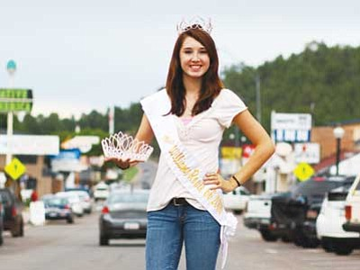 Ryan Williams/WGCN<br> Current Miss Route 66 Williams Crystal Heiser displays the crown this year's winner of the pageant will earn the opportunity to wear.