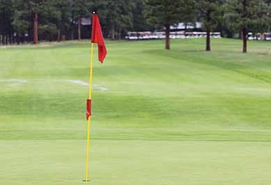 Ryan Williams/WGCN<br> The pin on Hole No. 1, where contestants will have the chance to win a new car by scoring a hole-in-one during the upcoming Taste of Williams event.