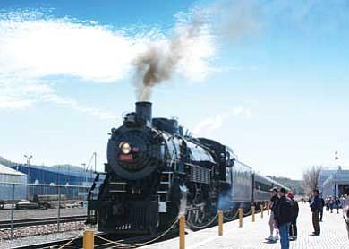 Patrick Whitehurst/WGCN<br> No. 4960 will travel roundtrip to Grand Canyon Saturday.
