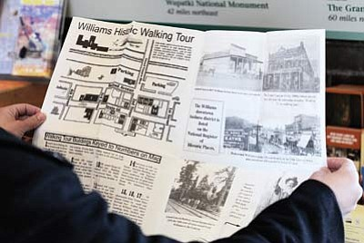 Ryan Williams/WGCN<br> With the help of close to $7,000 in grant funding, the Williams Main Street Association produced a new version of the historical walking tour map.