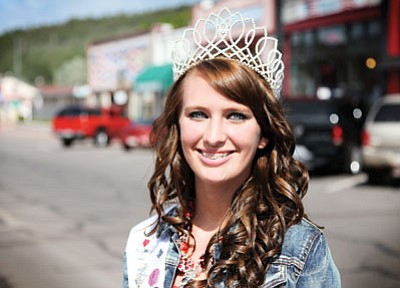 Ryan Williams/WGCN <br> Current Miss Route 66 Williams April Zicopoulos will hand over the crown to a new pageant winner in August.