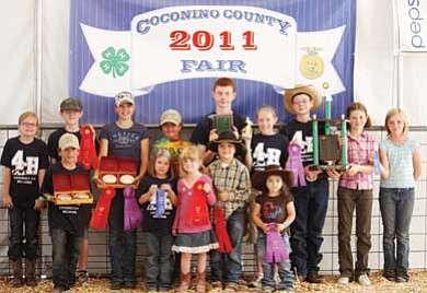 Pictured left to right (back row) are Abigail McCann, Gabe Jackson, Bailee Cameron, Chisolm Wells, Tagen Jacobsen, Marie Jacobsen, Jaxx Jacobsen, Emily McCann and Nolwenn Bowen; (front row) Cole Cameron, Ellie Cameron, Hattie McCann, Tate Wells and Abbie Wells. Not pictured are Katherine and Rebecca Westlake.