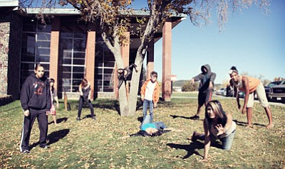Ryan Williams/WGCN <br> Williams High School students turn into zombies after a hard day of intense learning.