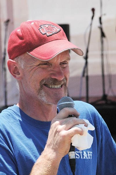Northern Arizona Barbecue Festival Organizer Chuck Vaughn addresses the crowd in attendance at last year's event. Lynda Duffy/WGCN