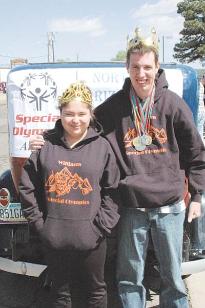 Santia Rodriguez and Mark Konkel are this year's Northern Arizona Barbecue Festival Special Olympics King and Queen. Photo/Jan Shirley