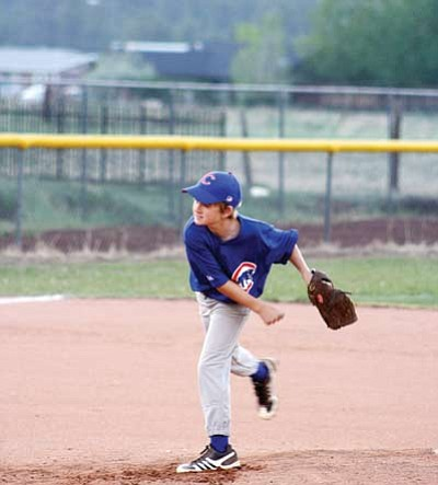 Players on the Ash Fork Cubs excel on both offense and defense. Submitted photos