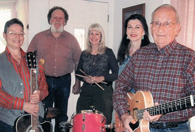 The Opry Band includes (from left) Debi Campbell, Greg Mendonca, Jan Bardwell, Marlene Cole and Phil Sanzari. Submitted photo
