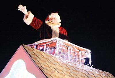Santa Claus appearing at last year's Parade of Lights. Clara Beard/WGCN