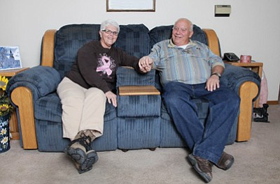 Barb and Bud Parenteau reflect on more than 50 years of marriage. Ryan Williams/WGCN
