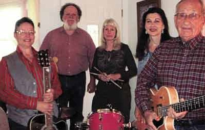 Last year's Williams Opry Band. The new lineup includes Lois Ann Dick, David Dick, Greg Mendonca, Bob Goodrich, Aaron Mendonca and Debi Campbell. Photo/WGCN