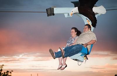 People enjoy a Soaring Eagle Zipline. Photo/Soaring Eagle Zipline