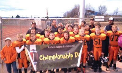 The Williams Bengals are this year's Northern Arizona Youth Football Association champions. Submitted photo