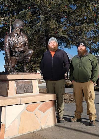 Anderson and Voss visit the Williams Veterans Memorial. Ryan Williams/WGCN