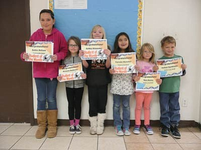 Williams Elementary School recently announced the January Students of the Month. Pictured from left: Ruthie McEuen (fifth grade), Brianna Baldosky (third grade), Ashley Alexander (fourth grade), Patrisha Blancher (second grade), Kyra Heisley (kindergarten) and Joshua VanWinkle (first grade). Submitted photo