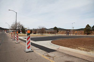 The city of Williams recently added a crossover east of Plum Street. Crews installed a second crossover at the east entrance to the Canyon Vista development at Boulderview Way. The developer, Forrest Purdy paid for the additional crossover at the request of city officials. Ryan Williams/WGCN