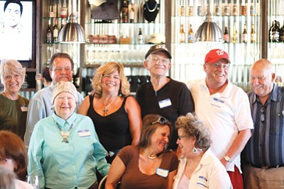 Greater Williams Community Fund grant recipients during a June 20 chamber mixer at South Rims Wine and Beer Garage. In total, 10 local organizations received grant money.  Clara Beard/WGCN
